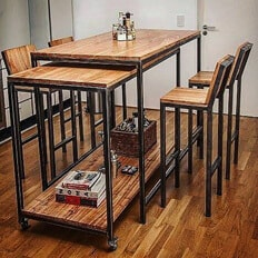 Барный стол и стулья. Интересная матрешка.